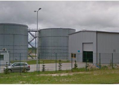 Kosakowo - zbiorniki płuczki do wypłukiwania kawern solnych